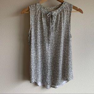 LOFT — sleeveless blouse with tie neck
